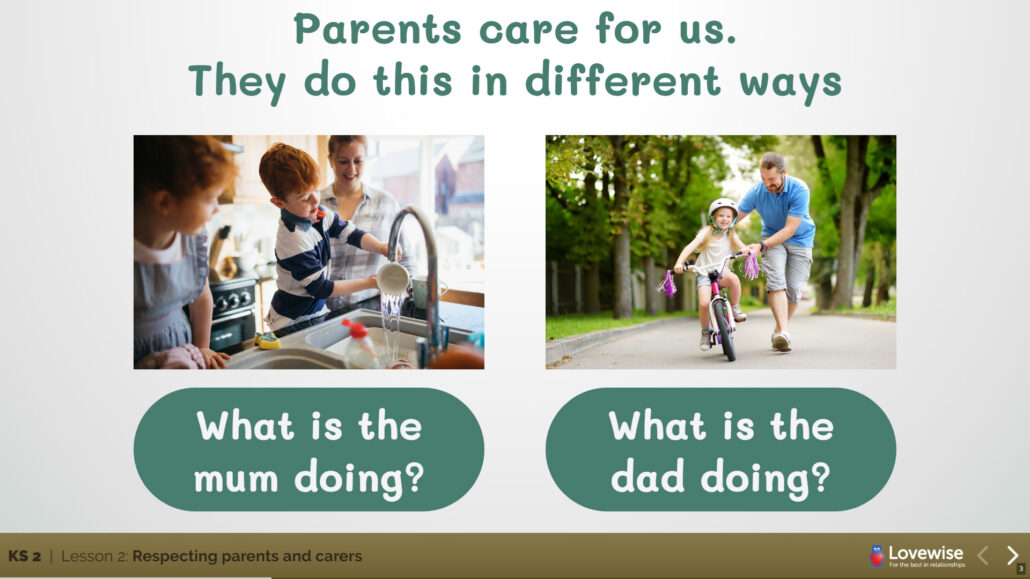 Parents care for us